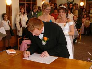 ženichovo podpis, jak se soustředil