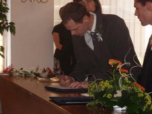 podpis svědka ženicha