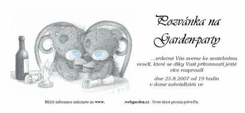 Pozvánka na Gárden-párty pro přátelé