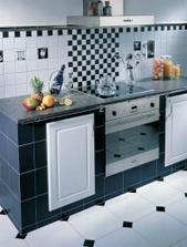 ...a black&white tentokrát i v kuchyni...