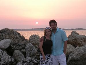 Večer na Corfu (22.7.2007) tesne po zasnúbení