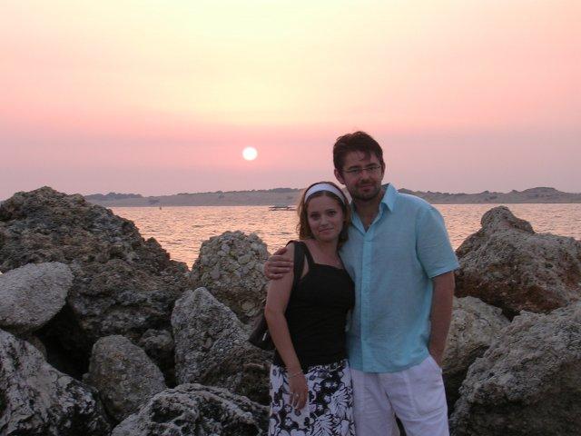 Tami&Robi - Večer na Corfu (22.7.2007) tesne po zasnúbení