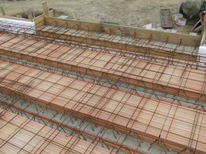 francúzky balkon, strop nachystaný na betonovanie