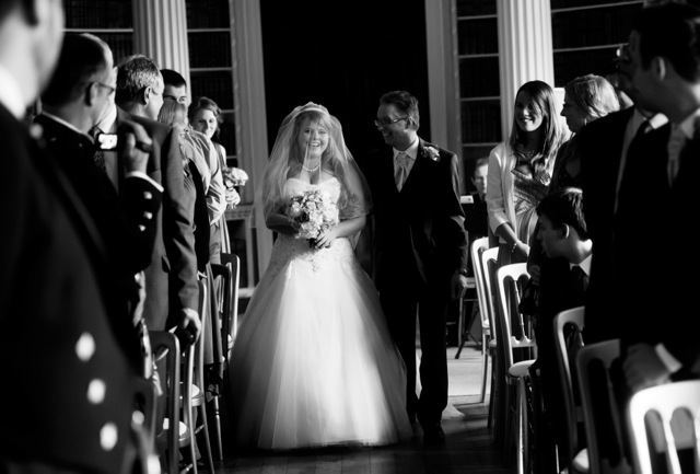 Sophie Hall{{_AND_}}Stuart Gillies - My dad walking me down the aisle, making me laugh!