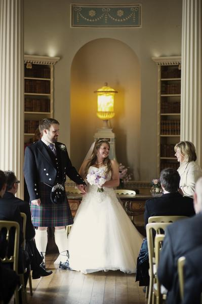 Sophie Hall{{_AND_}}Stuart Gillies - Being presented with our marriage certificate