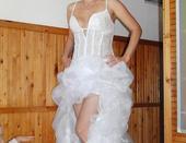 Svadobné šaty-extravagantné, 36