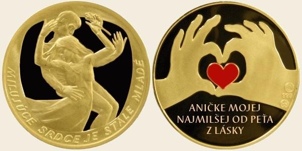 Svadobné centrum Valentíny - pamätné mince pravé zlato