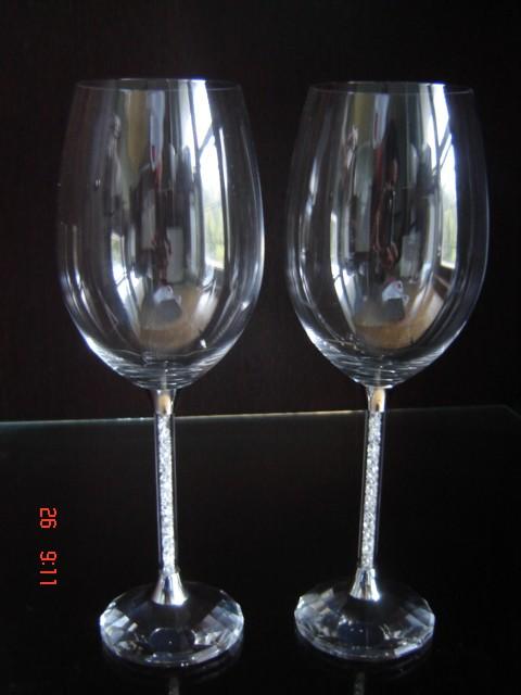 Svadobné centrum Valentíny - krištáľové poháre v nožičke krištályky