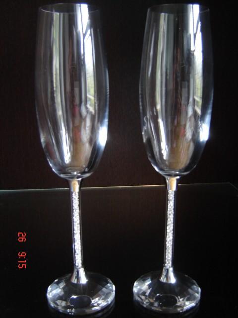 Svadobné centrum Valentíny - krištáľové poháre v nožičke kryštáliky