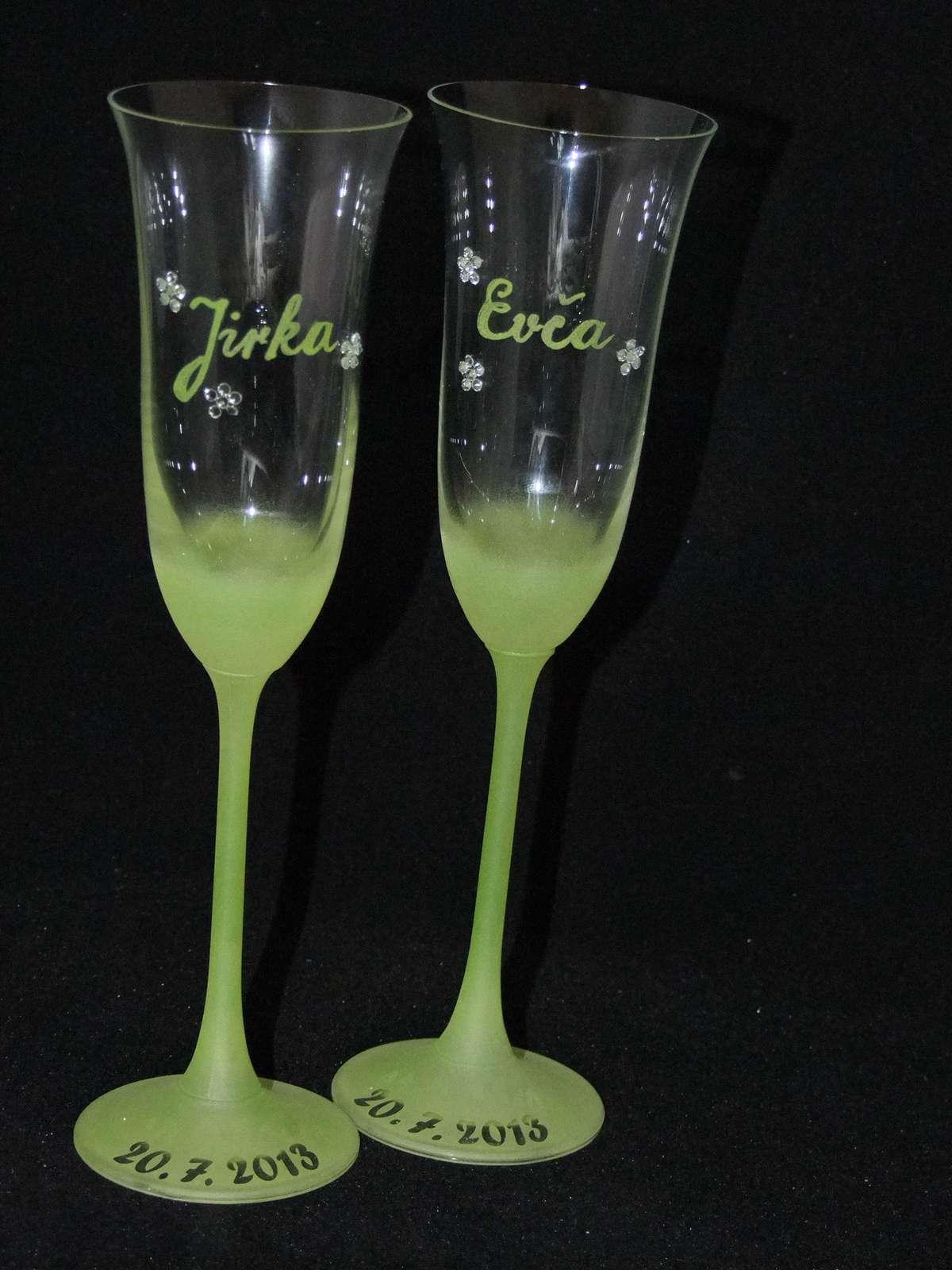 Ručne maľované poháre.meno ZDARMA  - Obrázok č. 1