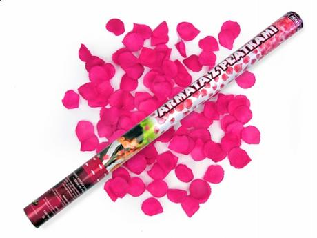 3ks/60cm/ružové lupene vystrelovacie - Obrázok č. 2
