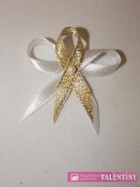Svadobné pierko bielo zlaté - Obrázok č. 1