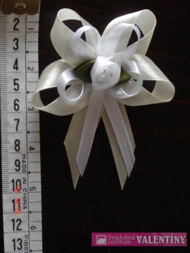 Pierko krémovo biele saténové - Obrázok č. 1