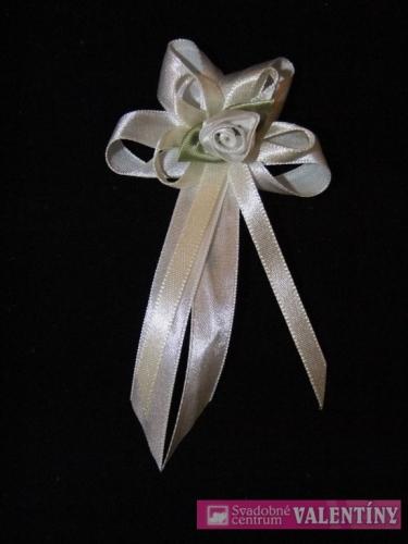 saténové pierko bielo krémové - Obrázok č. 1
