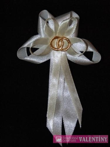 bielo krémové pierko saténové - Obrázok č. 1