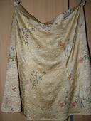 Prekrásna zlatá sukňa s maľovanými kvietkami  , 42