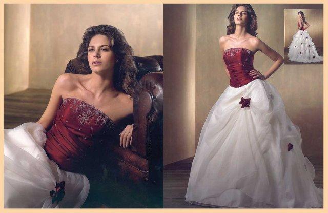 Svatební šaty - růžové i červené až do bordó - Obrázek č. 13