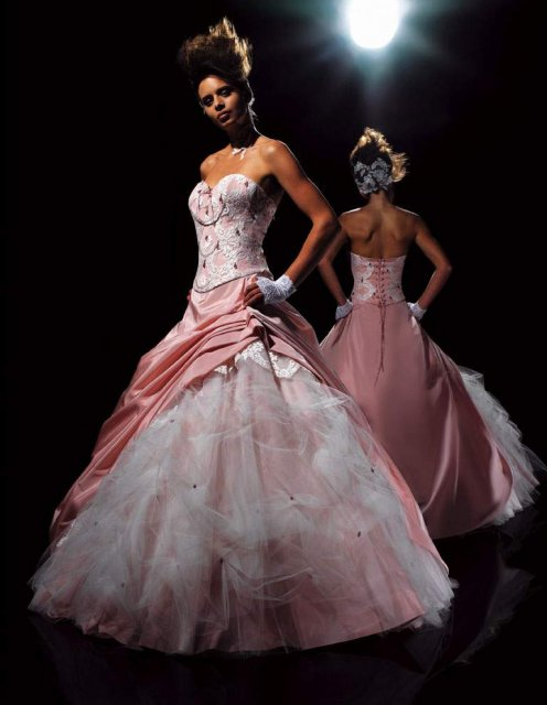 Svatební šaty - růžové i červené až do bordó - Obrázek č. 519