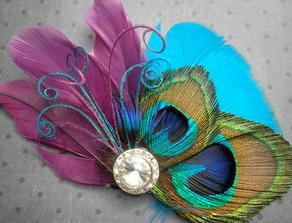 aj tato je pekna aj tento ozdobny fascinator sa mi paci  http://www.etsy.com/listing/68732867/teal-palms-white-feather-hair-facinator