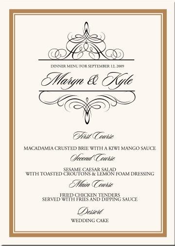 Oznamenia, menovky, pozvanie k stolu, menu, podakovanie - Obrázok č. 11