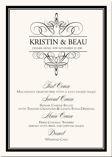 Oznamenia, menovky, pozvanie k stolu, menu, podakovanie - Obrázok č. 10
