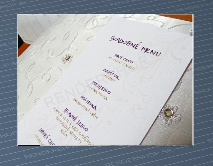 Oznamenia, menovky, pozvanie k stolu, menu, podakovanie - Obrázok č. 2