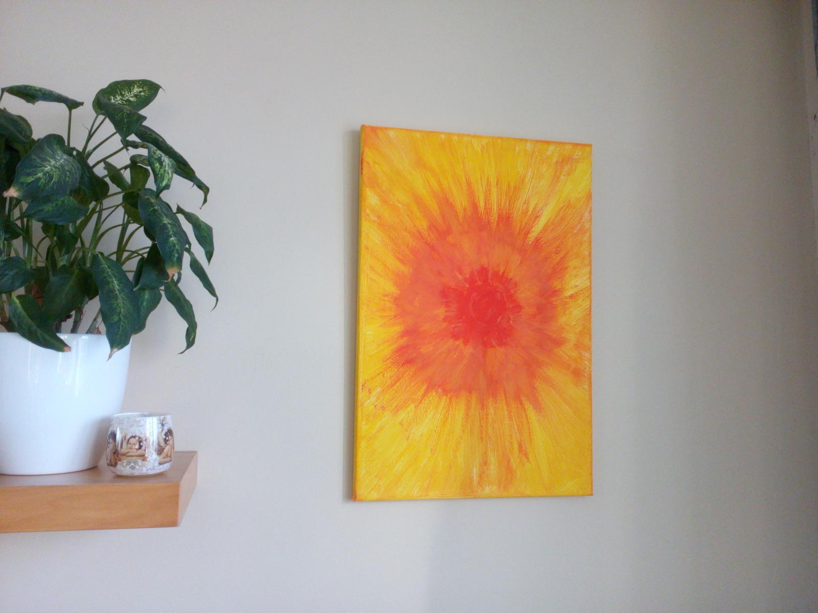 Moja druhá izba v Bratislave - Maľoval som obraz.