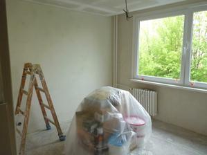 příprava na malbu ložnice :)