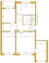 pôvodná dispozícia bytu 79 m2