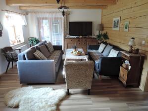 úprava obývacího pokoje