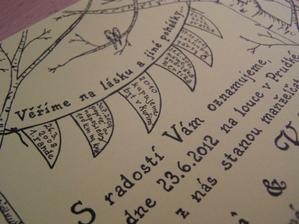 A ještě detail na fáborky s info o nás - inspirace byla někde tady, děkuju :-)