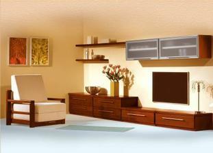 stolek pod TV chceme nízky podél stěny