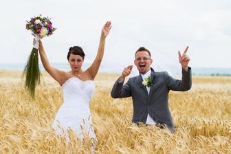 Momentka z natáčení scének do našeho svatebního videoklipu.