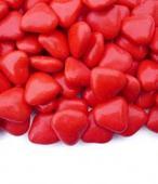 Čokoládová srdíčka červené 200 ks,