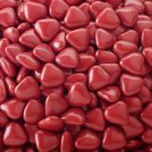 Čokoládová mini srdíčka - tmavě červené 1 kg,