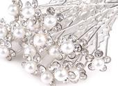 Vlásenka se stříbrnobílou perlou,