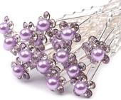 Vlásenka s lila perlou,