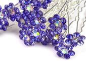 Vlásenka květinka fialovo-modrá,