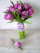 Svatební kytice pro nevěstu - bohužel tulipány nebudou v sezóně :(