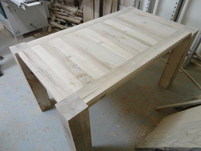 Výroba - Jedálenský stôl 1400x800x760mm jaseň
