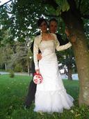 Svadobné šaty+ bolerko zdarma, 36