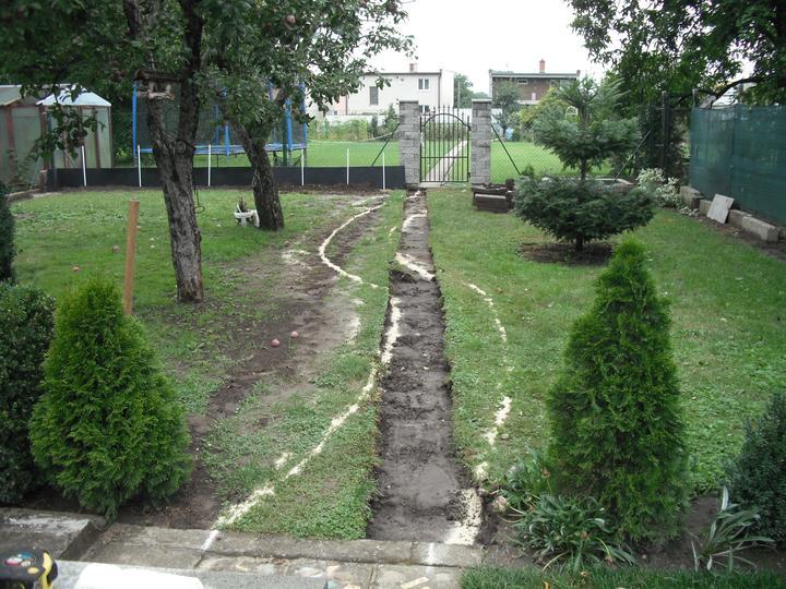 Záhrada pre oddych - Vytyčovanie chodníka