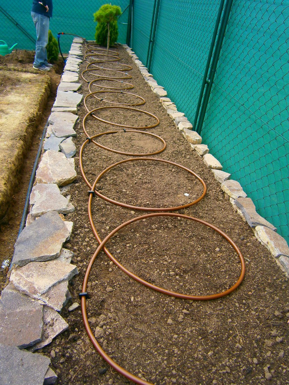 Záhrada pre oddych - Kvapková závlaha