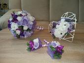 Umělá svatební kytice,