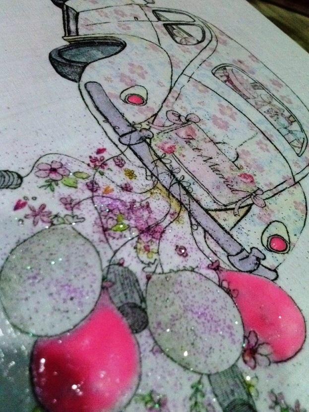 Moje dekorácie určené svadobčaným párom  :) - Obrázok č. 1