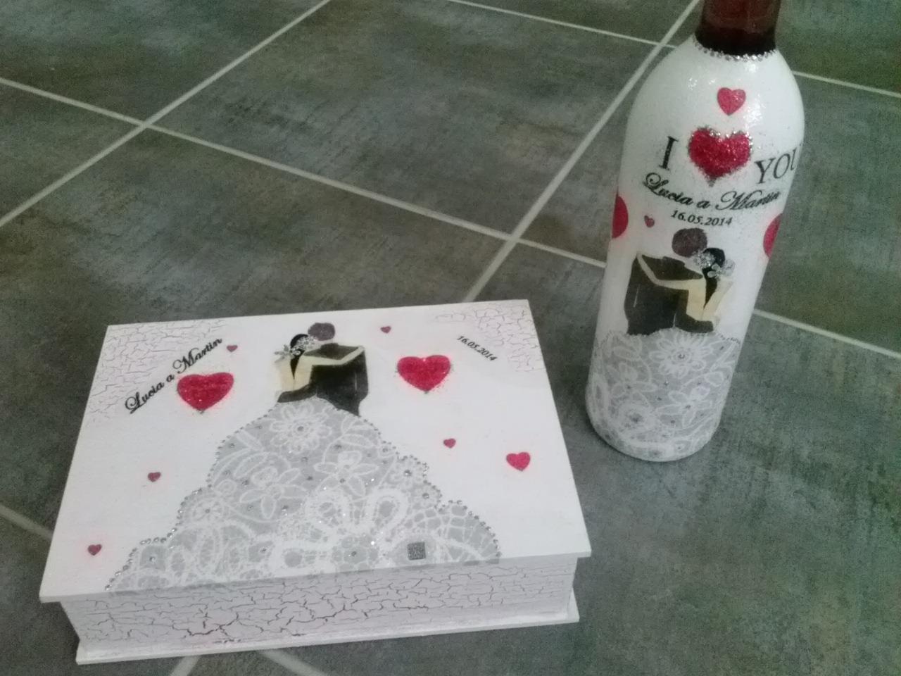 Moje dekorácie určené svadobčaným párom  :) - Obrázok č. 2