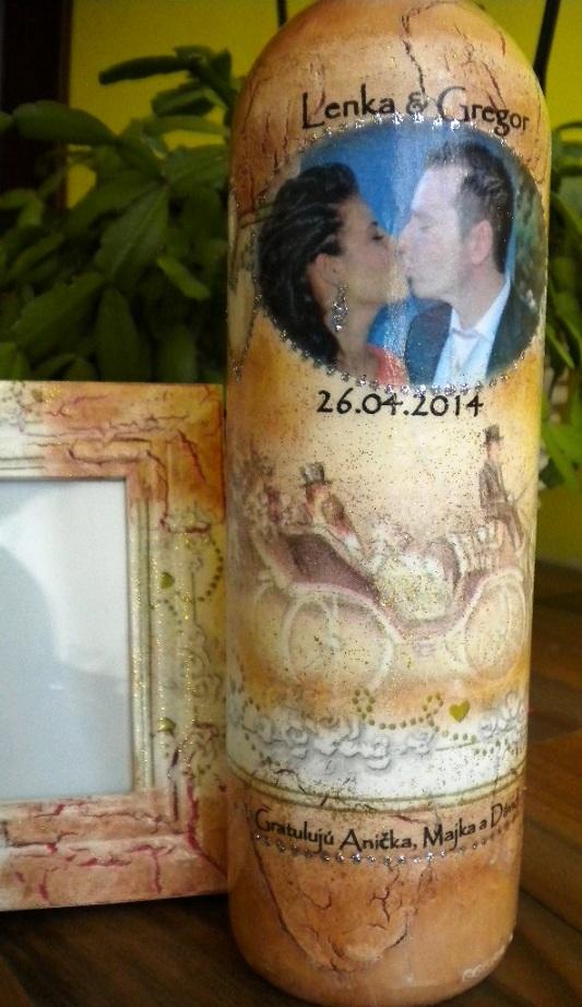 Moje dekorácie určené svadobčaným párom  :) - Obrázok č. 3