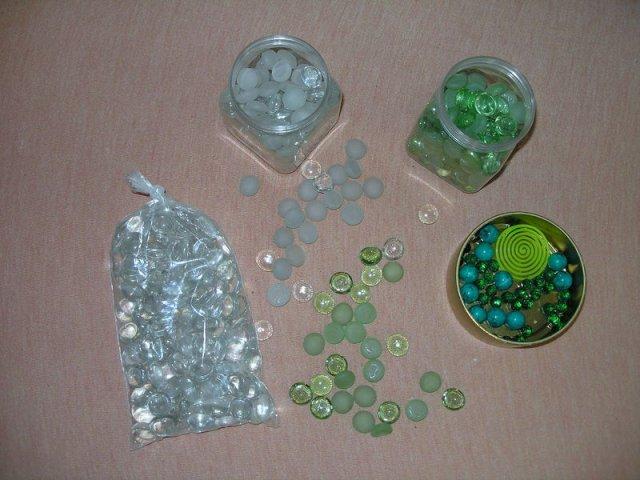 Koupě, výroba - kamínky na stůl