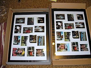 Koupě, výroba - dary pro rodiče - koláže z našich společných fotek