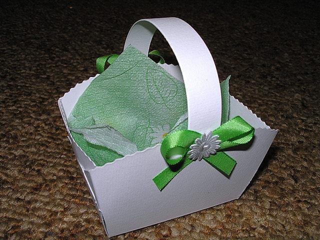 Koupě, výroba - košíček na koláčky